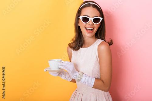 Beautiful young elegant brunette woman Fototapete