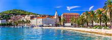Travel And Landmarks Of Croatia - Beautiful Town Spilt, Popular Tourist And Cruise Destination
