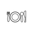 plate icon vector flat design template