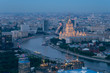 spectacular bird's eye view of Moscow