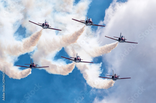 Poster Helicopter Patrulla Aguila, aerobatic demonstration team Spanish Air Force