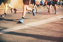 Marathon Runners In The City. ...