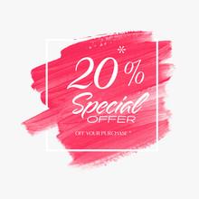 Sale Special Offer 20% Sign Ov...