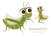 Grasshopper Cartoon Character ...