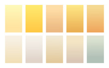 Vector Set Of Gradient Backgrounds Sand Color Palette