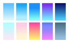 Vector Set Of Gradient Backgrounds Sky Color Palette