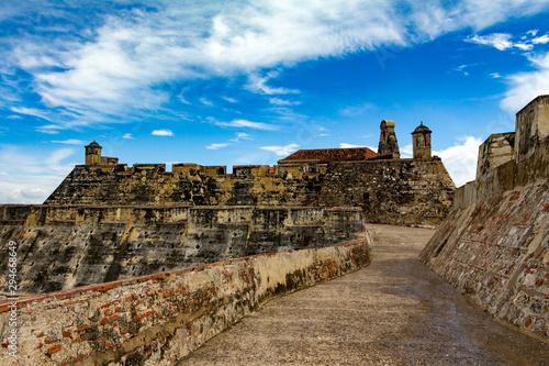 Canvas Print Castillo San Felipe de Barajas Cartagena Colombia