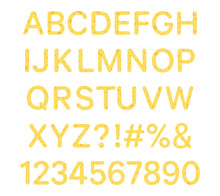 Set Of Cheese Fonts And Numbers Isolated On White Background -  Vector Illustration