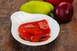 Leinwandbild Motiv Marinated baked red bell pepper