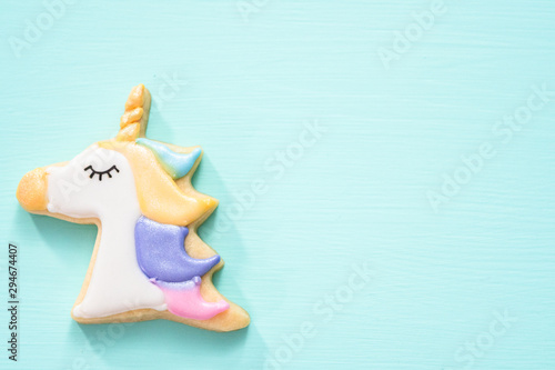Fototapeta Unicorn sugar cookies obraz