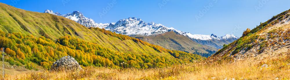 Fototapety, obrazy: autumn mountain landscape panorama