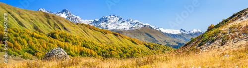 Poster Miel autumn mountain landscape panorama