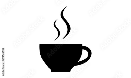 Obraz coffee cup of drink with smoke vector design illustration - fototapety do salonu