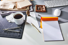 Messy Business Desk