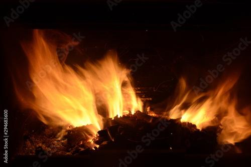 Photo Fuego de chimenea