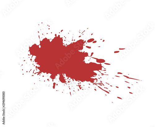 blood stain draw Wall mural