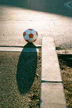 Soccer Ball In Playground