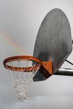 Rainbow In Basketball Hoop