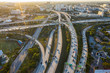Aerial view of highways in Miami, USA
