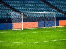 White Goal Post On Football Pl...
