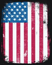USA American Flag Grunge Distr...