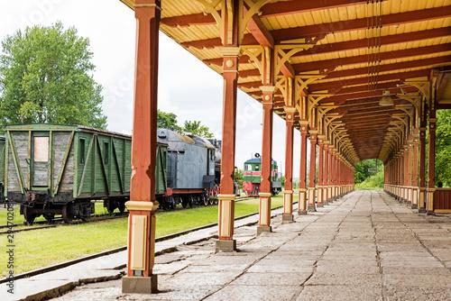 Old Vintage Style Railway Station in Haapsalu; Estonia