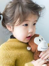 Little Girl With Her Stuffed Animal