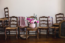Jumble Of Antique Chairs And A...