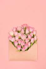 Pink Shade Roses In Envelopes