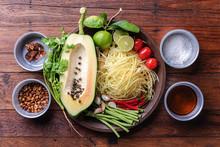 Papaya Salad Recipe Ingredient...