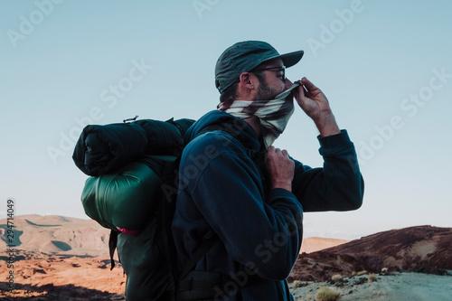 A hiker in El Teide, Tenerife