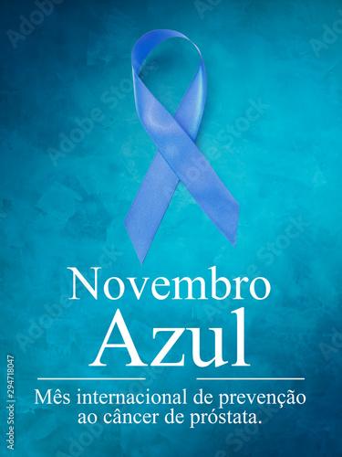 Novembro Azul - Mês da conscientização do câncer de próstata. Wallpaper Mural