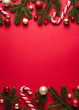 canvas print picture - Merry Christmas and happy New Year vertical background