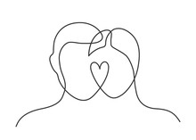 Couple Heart One Line