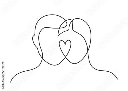 couple heart one line