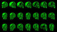 Green Human Skulls Halloween B...