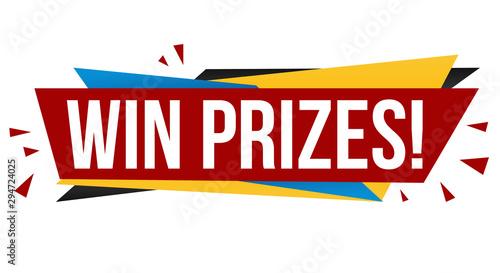 Win prizes banner design Fototapete