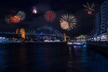 Beautiful Fireworks Show Over ...