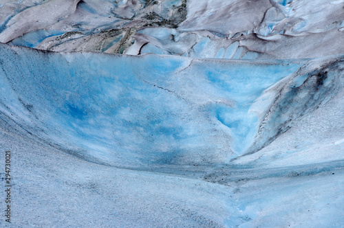 Heart shape in melting glacial ice