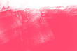 canvas print picture - white and pink paint background texture with brush strokes