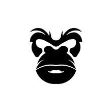 Gorilla Head Vector, Monkey He...