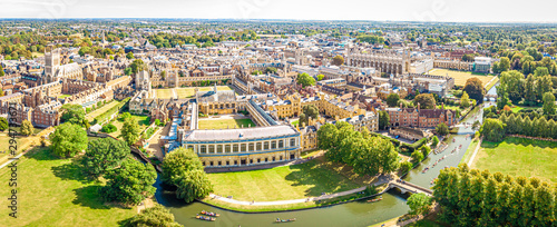 Foto auf AluDibond Orange Aerial view of Cambridge, United Kingdom