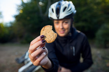 Female Cyclist Eating Integral...