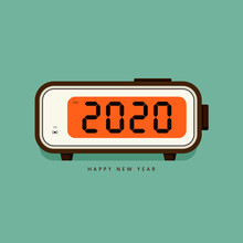 2020 Happy New Year Concept De...
