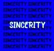 canvas print picture - sincerity