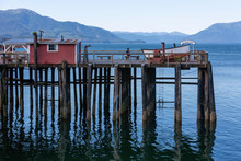 Old Wooden Dock At Icy Strait Point, Alaska