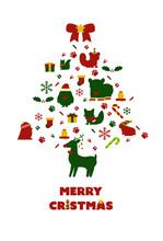 クリスマスと動物のイ...