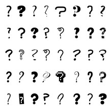 Isolated Question Mark Icon Set Design