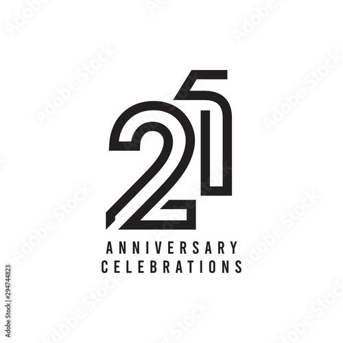 Papel de parede 21 Years Anniversary Celebration Vector Template Design Illustration
