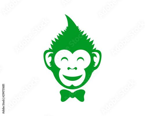 Monkey Cannabis Canvas Print